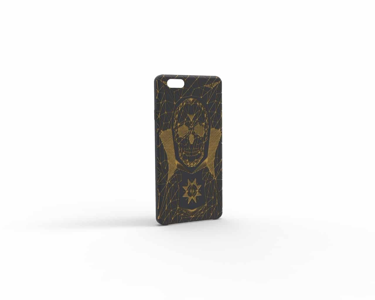 skull-grau-gelb-Handyhülle iphone 80.64
